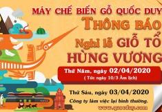 Thông báo nghĩ lễ giỗ tổ Hùng Vương 2020