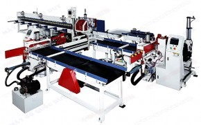 AUTOMATIC FINGER JOINT SHAPER WITH SCORING SAW AND AUTOMATIC FEEDING SYSTEM