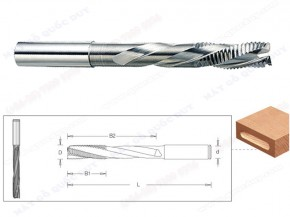 TUNGSTEN CARBIDE 3 FLUTES ROUNGHING END MILLS FOR LOCKSET